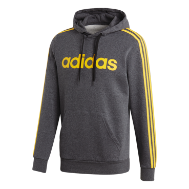 BLUZA MĘSKA ADIDAS ESSENTIALS 3 STRIPES PULLOVER FLEECE SZARA FI1477