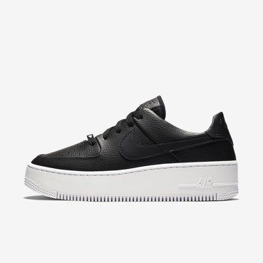 BUTY DAMSKIE LIFESTYLE NIKE AIR FORCE 1 SAGE LOW CZARNE AR5339-002