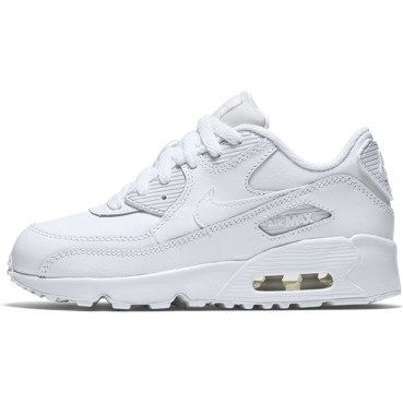 BUTY JUNIOR LIFESTYLE NIKE AIR MAX 90 LEATHER BIAŁE 833414-100