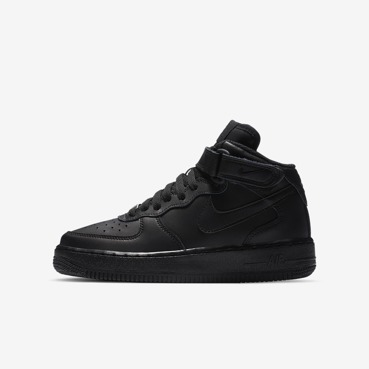 BUTY JUNIOR NIKE AIR FORCE 1 MID CZARNE 314195-004