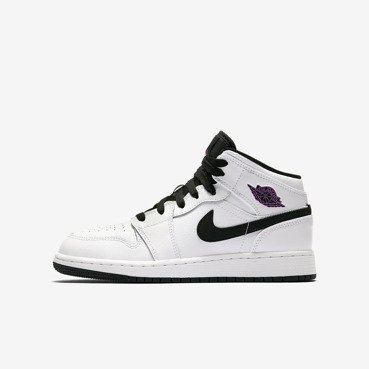 Buty juniorskie Air Jordan 1 Mid Girls' 555112 138