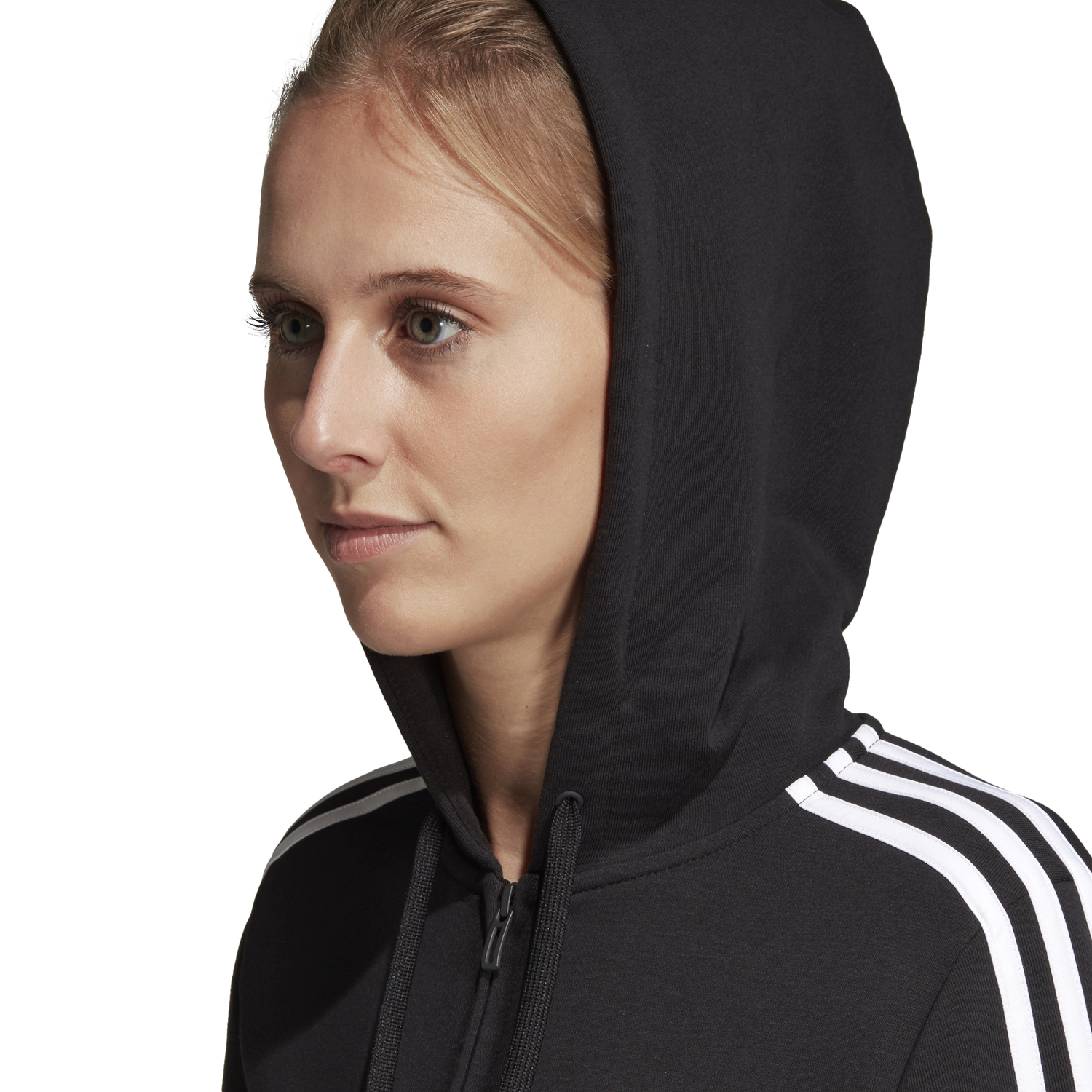 adidas ESSENTIALS 3 STRIPES FULLZIP HOODIE |