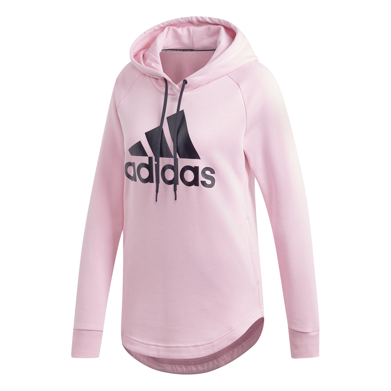 BLUZA DAMSKA ADIDAS MUST HAVES BADGE OF SPORT OVER HEAD HOODIE RÓŻOWA DX2536