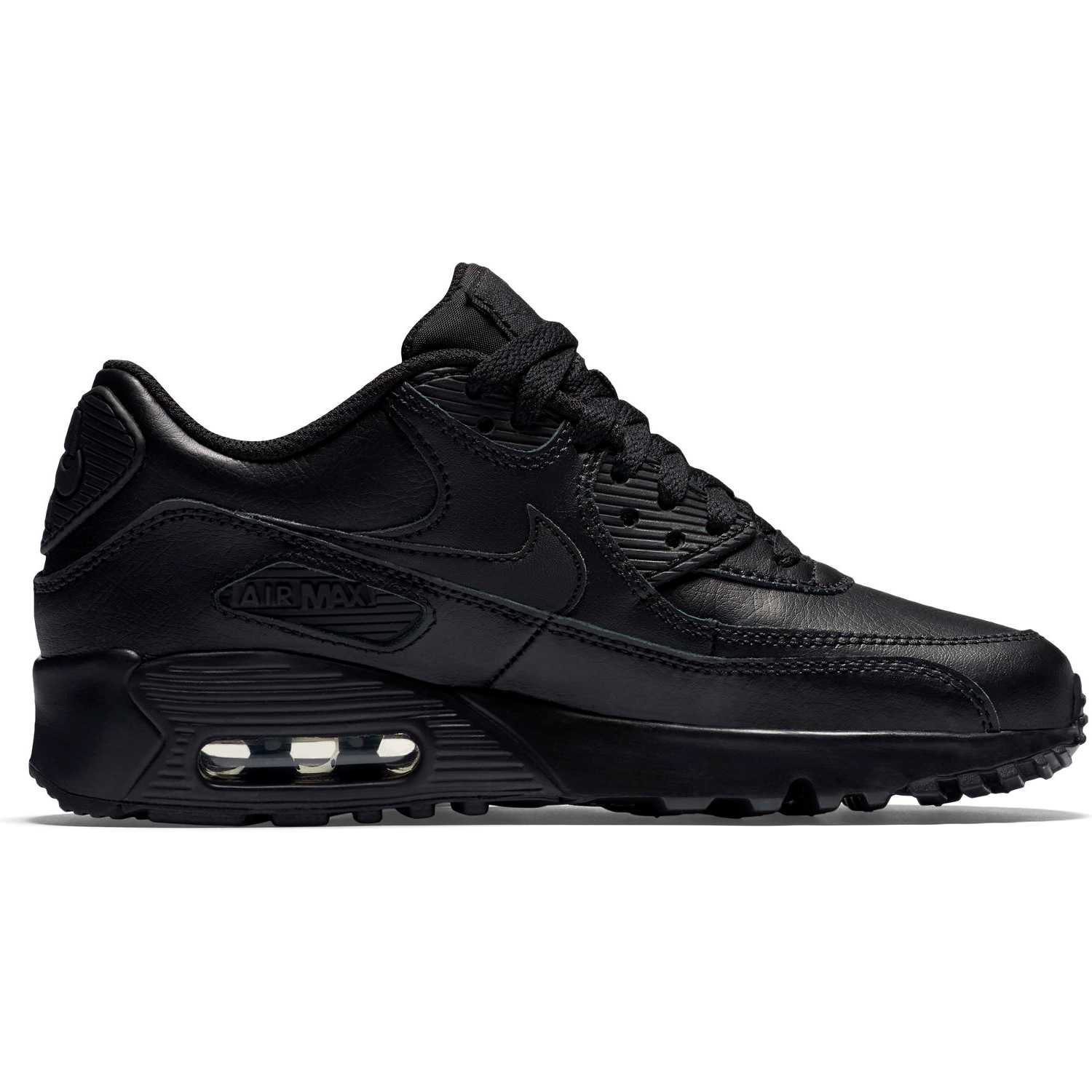 BUTY JUNIOR LIFESTYLE NIKE AIR MAX 90 LEATHER CZARNE 833412 001