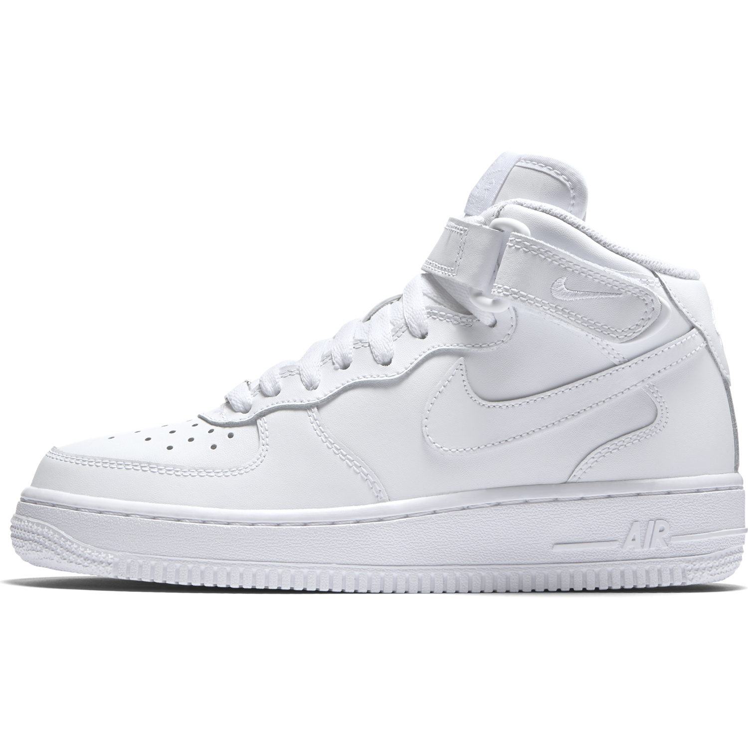 BUTY JUNIOR NIKE AIR FORCE 1 MID (GS) BIAŁE 314195 113