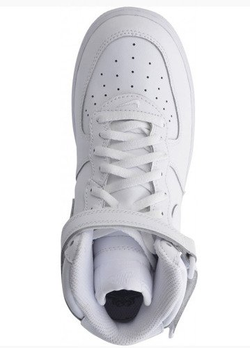 Nike Air Force 1 Mid All White (PS) 314196 113